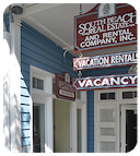 South Beach rental sign.